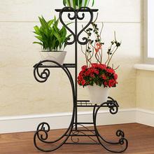 柜太太 欧式铁艺花架多层落地式阳台室内客厅花架子兰花盆架特价