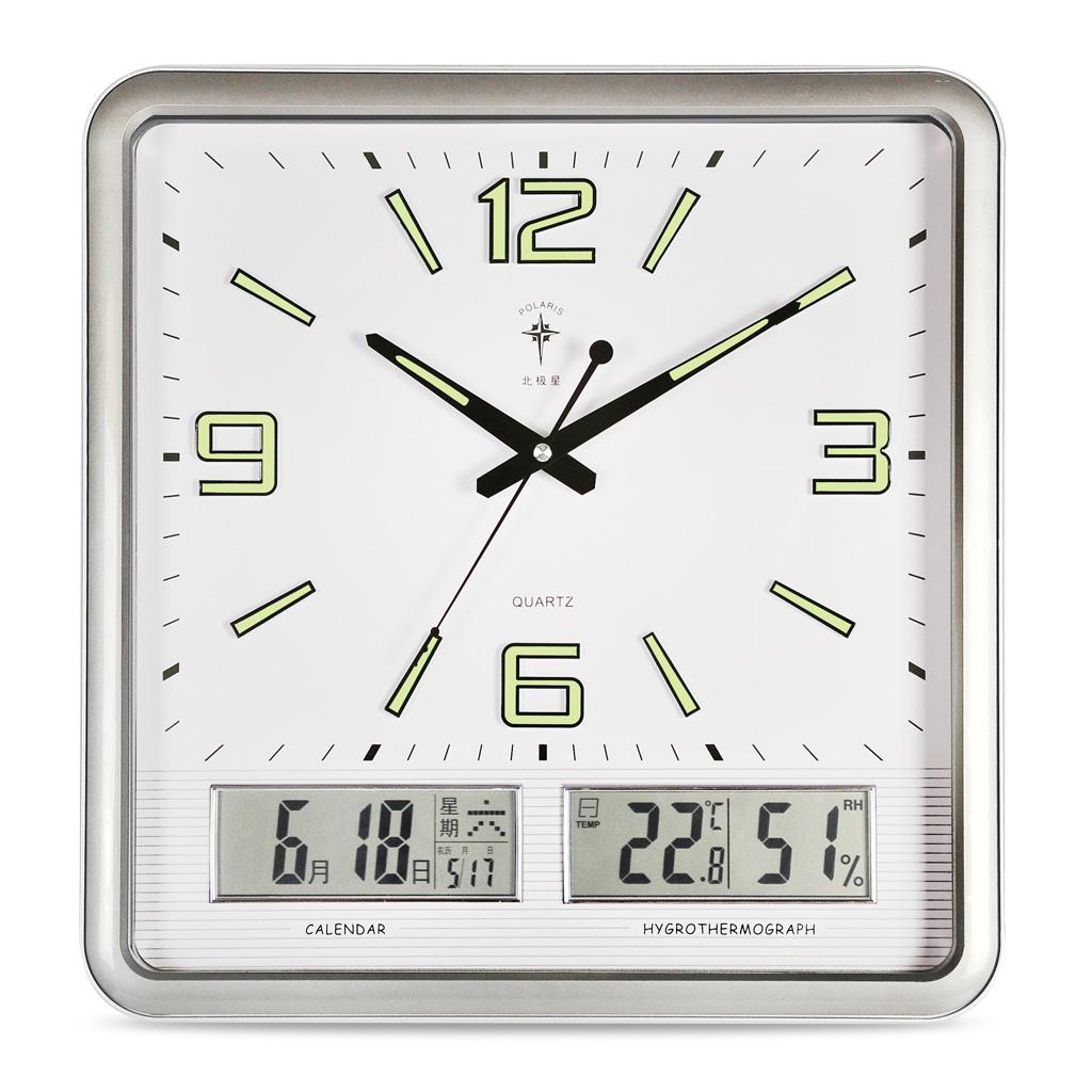 北极星挂钟客厅创意夜光时钟现代时尚万年历钟表静音日历大石英钟