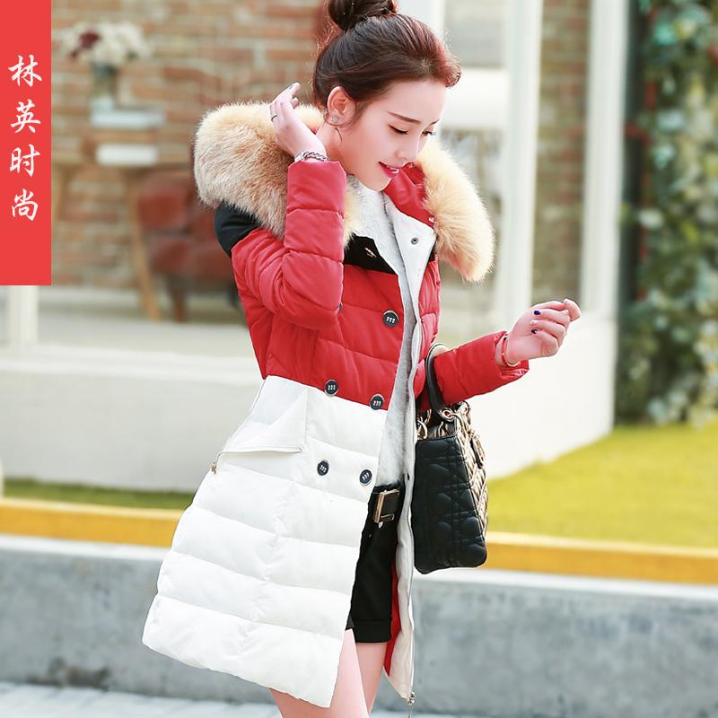 棉衣長款防寒服女中外套加厚冬裝