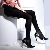 【约惠女人节】华高08057华高纤暖拉绒连裤袜女袜秋冬季上厚下薄