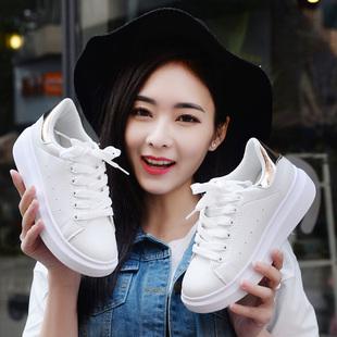 2016韩版春夏季运动鞋休闲鞋厚底板鞋小白鞋学生女鞋跑步鞋潮单鞋