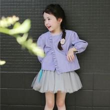 2014秋季新款韩版童装儿童女童短款潮公主娃娃衫夹克长袖外套风衣