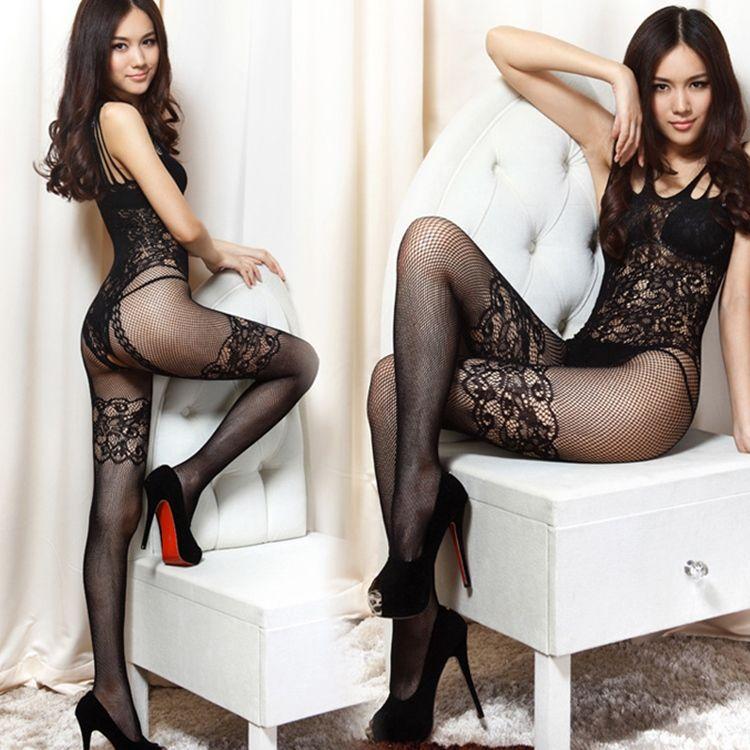 女连体丝袜性感吊带超薄透明开档夜店连身内衣美腿紧身打底连裤袜