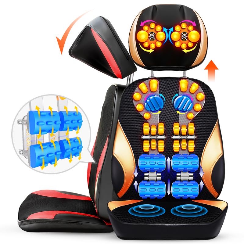 家用靠墊多功能器材頸部按摩頸椎椅墊全身背部腰部