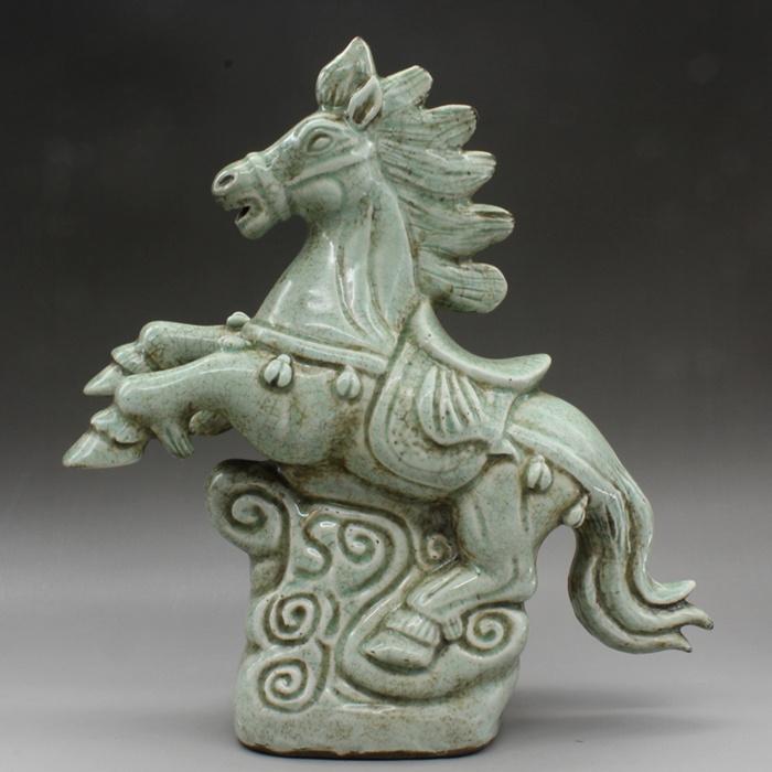宋影青大号动物塑像古董老陶瓷老货古玩瓷器旧货老