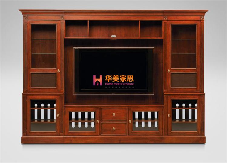 美式新古典实木家具定制全实木组合电视柜书柜简约时尚储物柜定做