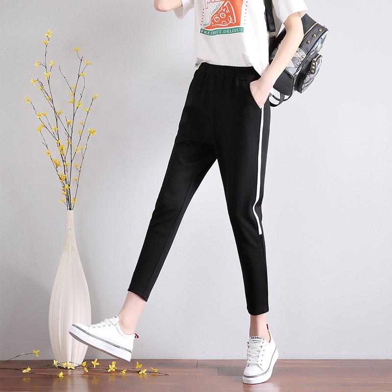 小脚夏季学生宽松休闲卫裤显瘦哈伦裤薄款裤大码运动裤