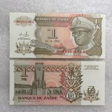 外国钱币 1993年版 扎伊尔1元 外币 纸币 全新UNC