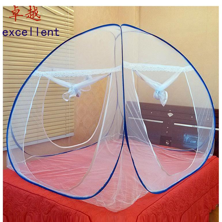 蚊帐免安装寝室蚊帐简易蚊帐蒙古包便携式旅行蚊帐可折叠地铺蚊帐