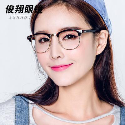防辐射眼镜女平光镜潮防蓝光男抗疲劳防近视眼镜女电脑护目镜平面