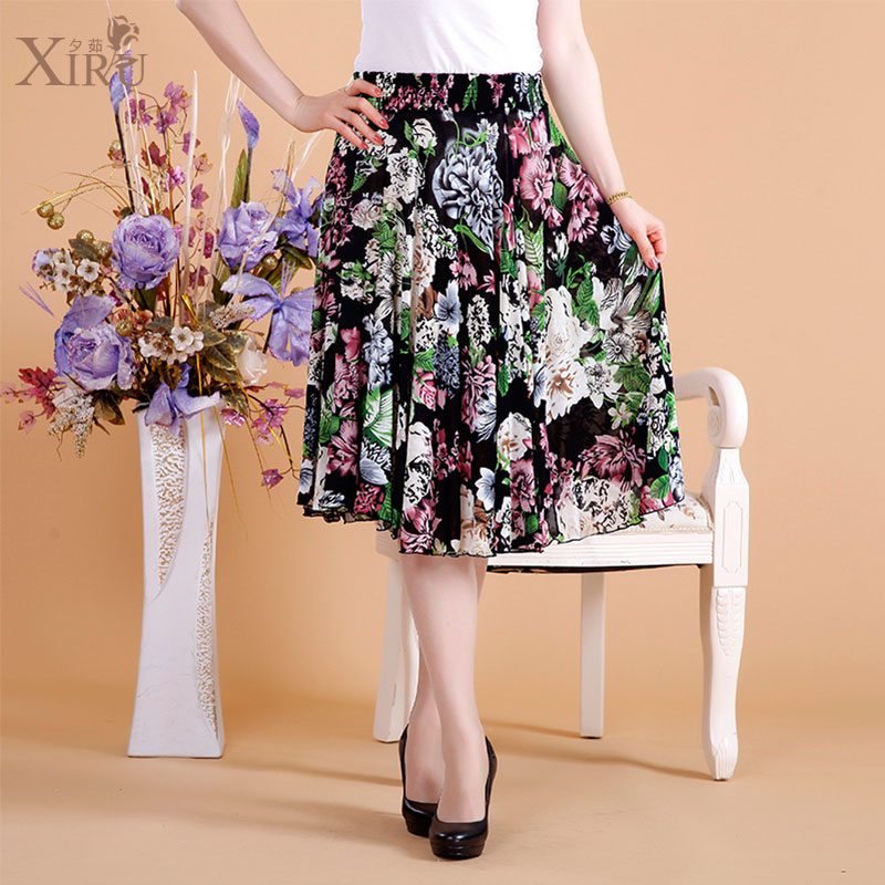 妈妈也爱穿裙子,超美的中老年裙子半身裙推荐