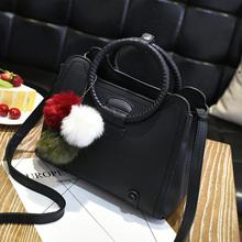 手提包2016新款冬季韩版简约百搭女士小包包休闲时尚女包潮斜挎包