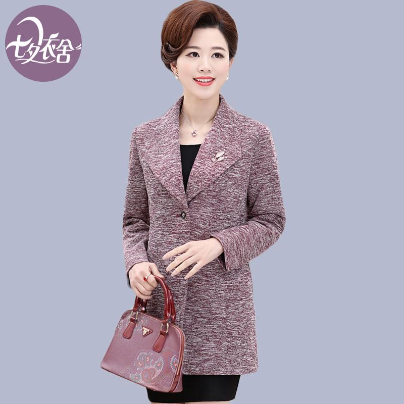 中年妇女装春装外套妈妈装40-50岁中老年人冬季休闲夹克上衣短款