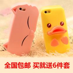 IPHONE4S手机壳苹果5S卡通壳苹果6手机套可爱6plus软硅胶套潮