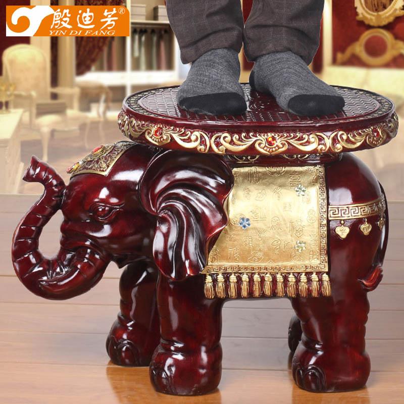 大象穿换鞋凳欧式创意象凳子招财摆件客厅装饰品结婚礼物乔迁礼品