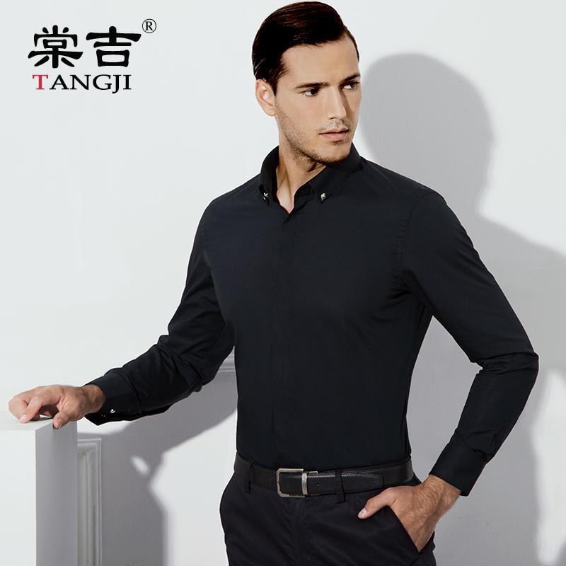 棠吉秋季商务白色衬衫