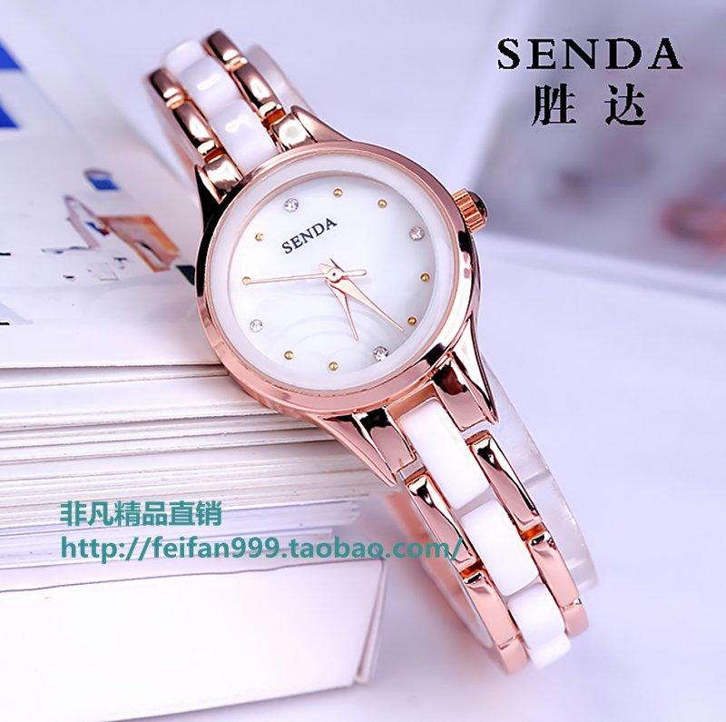 手链情侣表女学生陶瓷腕表时装表防水钻石英钟表手镯手表男表女表