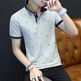【两件69】夏季polo衫t恤男士短袖有领时尚翻领港风青年保罗衫潮