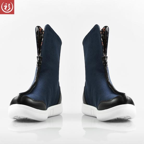 男鞋尺_衫仟尺中国风男鞋秋冬新款复古工装靴休闲中筒