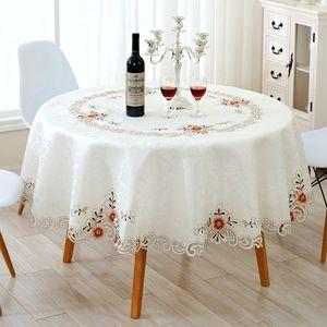 歌兰朵欧式圆桌布蕾丝餐桌布茶几
