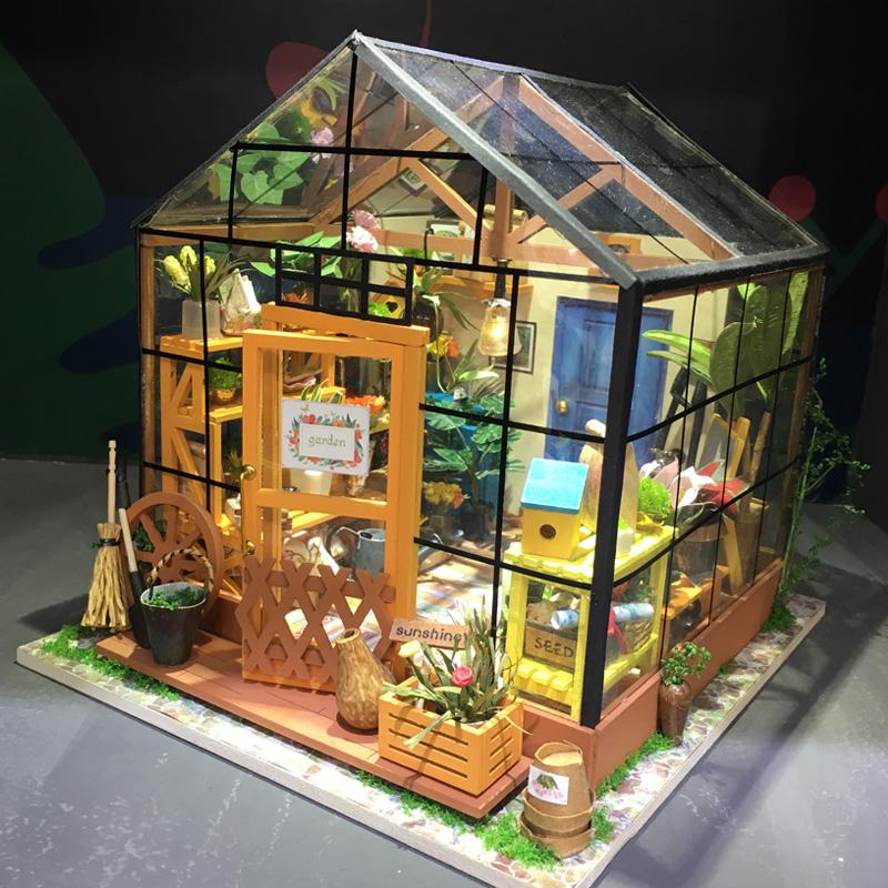 卡小姐创意3D立体木质成人益智模型DIY玩具花房儿童节生日亚博娱乐游戏平台--任意三数字加yabo.com直达官网