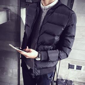2016新款冬装男棉衣修身韩版立领短款棉袄外套百搭青年男士棉服潮