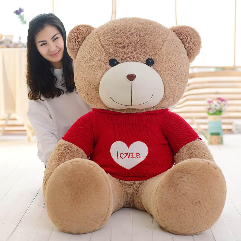大號大熊娃娃抱抱熊毛絨玩具生日禮物女生泰迪熊公仔毛衣
