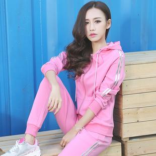 运动套装女春秋两件套2017新款女装春装韩版潮学生时尚休闲运动服