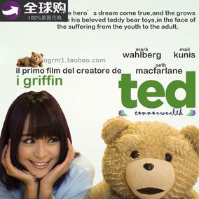 美国原版正品TED熊电影泰迪熊毛绒正版公仔圣诞 生日节日礼物
