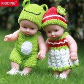 包邮智能仿真婴儿小娃娃洗澡洋娃娃全身软胶宝宝早教儿童玩具娃娃