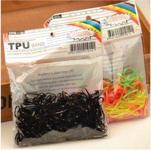 韩国发圈儿童彩色黑色一次性橡皮筋发绳头绳头饰头花9.9包邮饰品