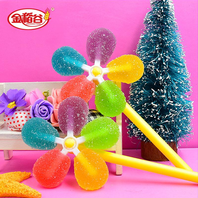 怀旧棒棒糖儿童节休闲果汁水果糖软糖零食食品风车