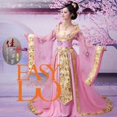 款古装 杨贵妃演出服 唐装汉服 舞台表演服装 仙女公主服装