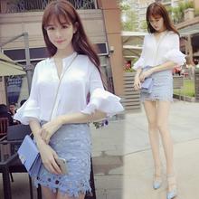 2017春装女装新款套装女时尚潮韩版气质短裙两件套夏季名媛套装裙