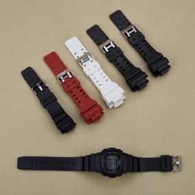 包邮 适用卡西Casio树脂硅胶橡胶G-shock系列针扣手表带红白黑色