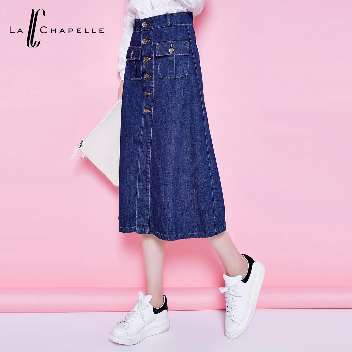 备受MM们青睐的La Chapelle拉夏贝尔牛仔裙