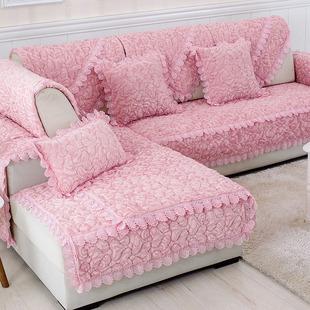 新款毛绒沙发垫坐垫欧式布艺四季简约现代皮组合沙发