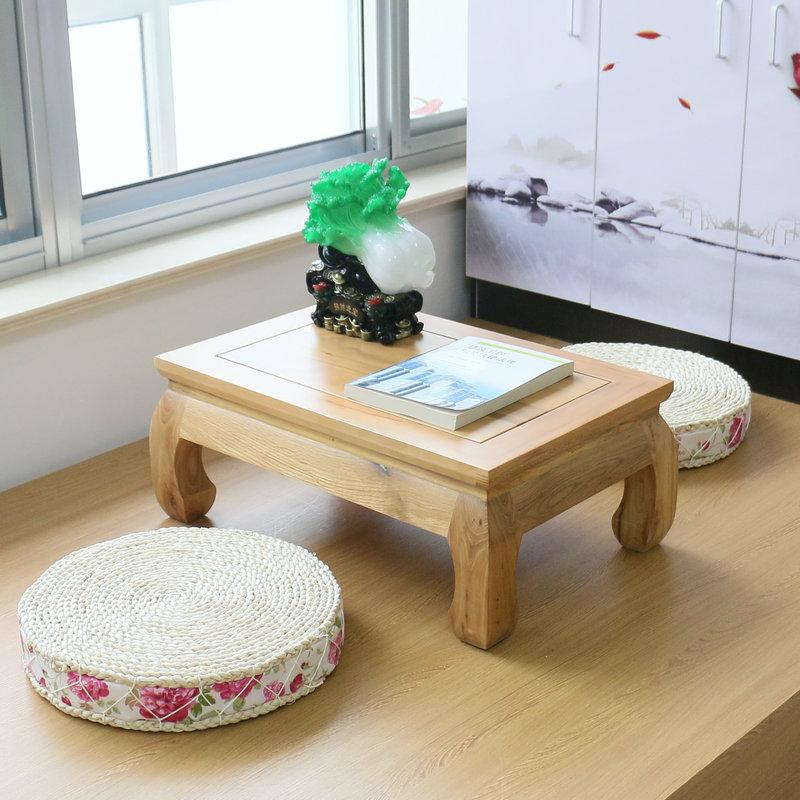 实木飘窗桌子欧式榻榻米茶几简约电脑桌仿古地台小桌