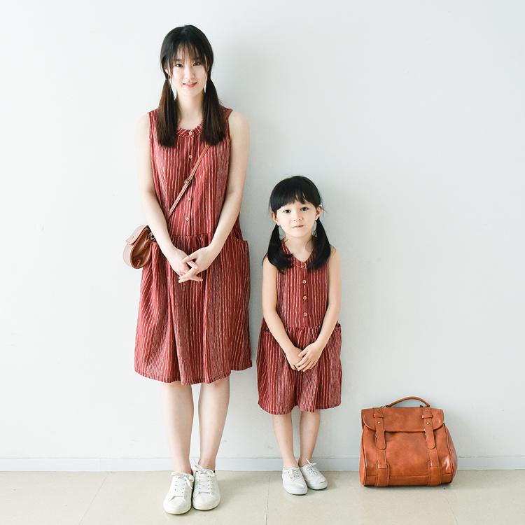 新潮又好看的母女亲子装夏装连衣裙