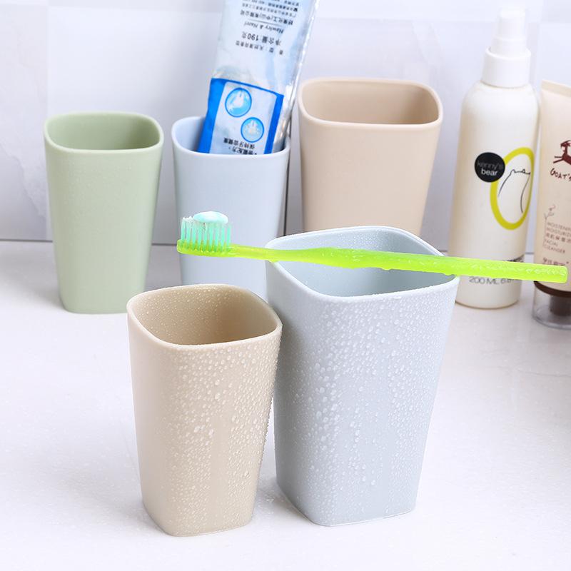 清新简约加厚塑料洗漱杯 创意情侣漱口杯牙刷杯 塑料刷牙杯子