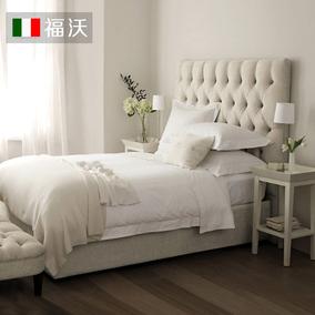 北欧布艺床欧式双人床1.8米现代简约主卧美式床小户型布床可拆洗