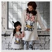 女童T恤童装2014秋冬装新款黛丝亲子T恤儿童加绒打底衣母女装
