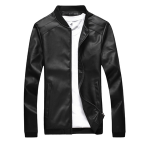 man leather jacket men jackets winter coat机车皮衣大码男
