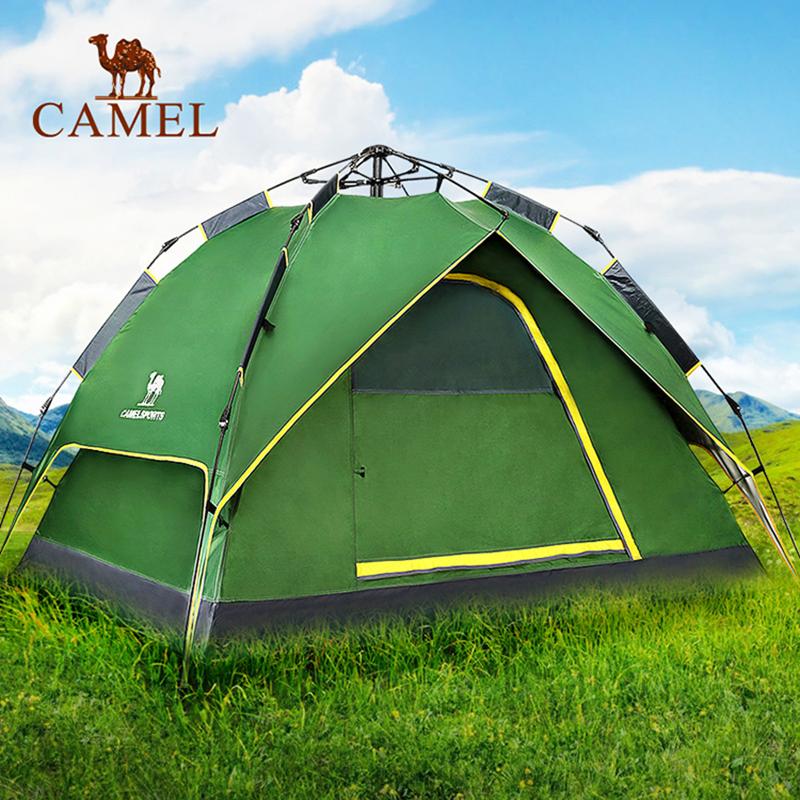 帐篷露营双层防雨野外人速开四季 帐篷骆驼全自动户外
