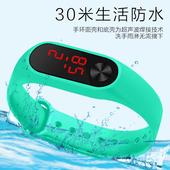 男学生儿孩女学防水电子表女非智能触屏情侣手表生男孩童手表