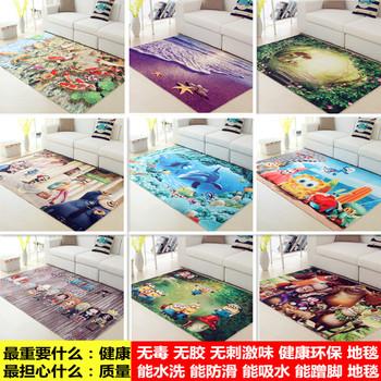 卡通3d地垫客厅沙发茶几地毯卧室床边毯进门门厅厨房浴室防滑门垫