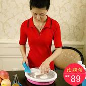 儿童炒酸奶机家用炒冰机机器沙冰冰粥机抄冰淇淋机炒冰盘冰棒机
