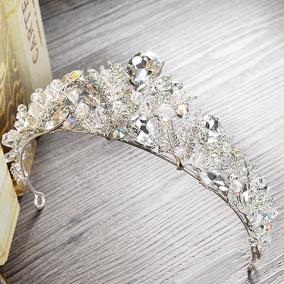 韩式新娘水晶皇冠头饰婚纱礼服结婚配饰品奢华巴洛克水钻发箍发饰