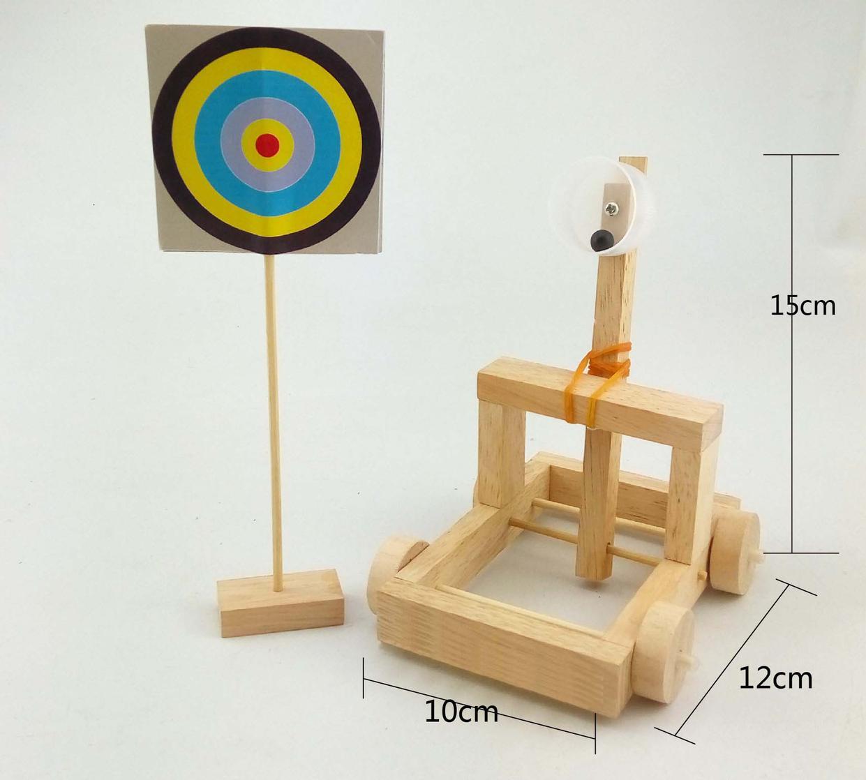 diy儿童科技小发明制作学生科学实验玩具拼装投石车