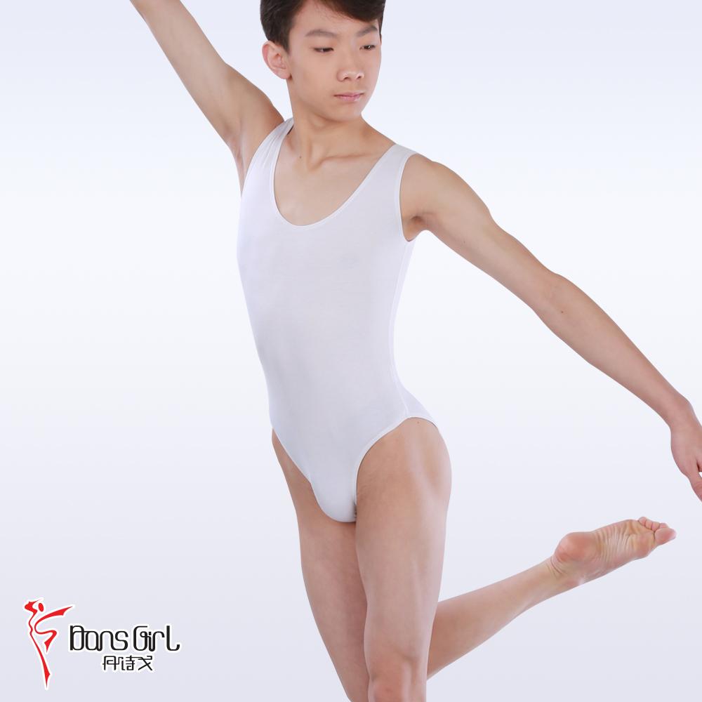 丹诗戈正品 男士练功服 芭蕾舞服2110棉背心男式舞蹈服 连体服